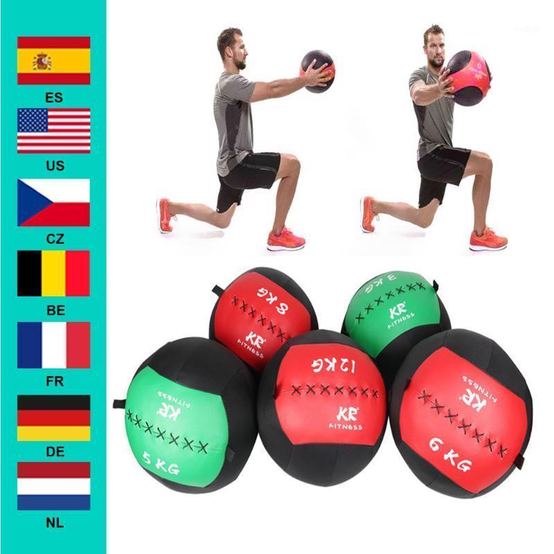 35 cm Snatch vacío bolas de pared Ejercicio pesado Kettlebell Levantamiento Fitness Muscle Building Nuevo color al azar1