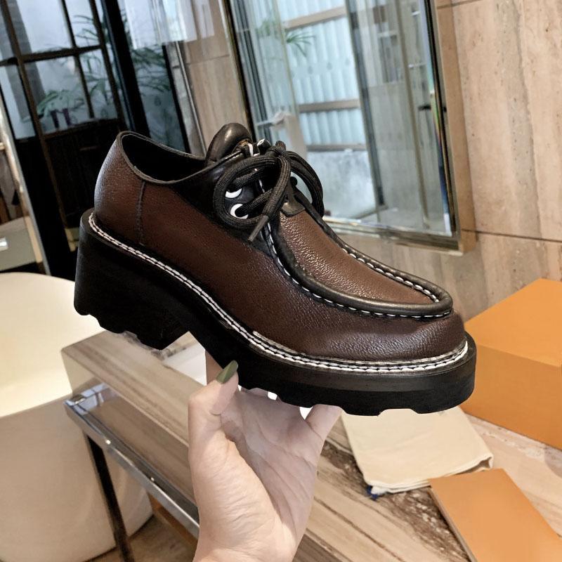 여성 드레스 웨딩 파티 신발 고품질 가죽 신발 플랫폼 샌들 패션 비즈니스 공식적인 로퍼 사회적 chunky 신발 siz