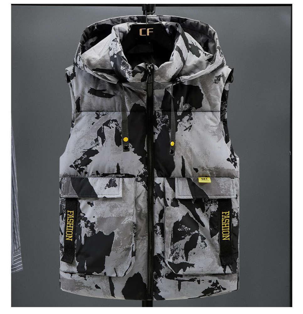 Plus Size 7XL 6XL 5XL XXXXL Winter Down Casual Waistcoat Women's Sleeveless Jacket Warm Men's Vest Overcoats