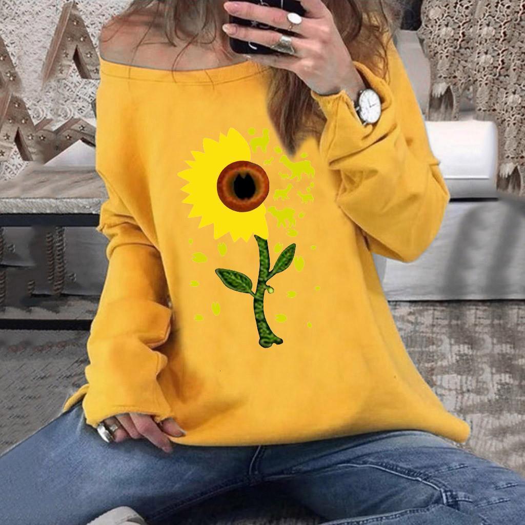 2021 Feitong Sunflower Blouse Женская рубашка повседневная сплошная цветная рубашка с длинными рукавами плюс рубашка с длинными рукавами плюс рубашка