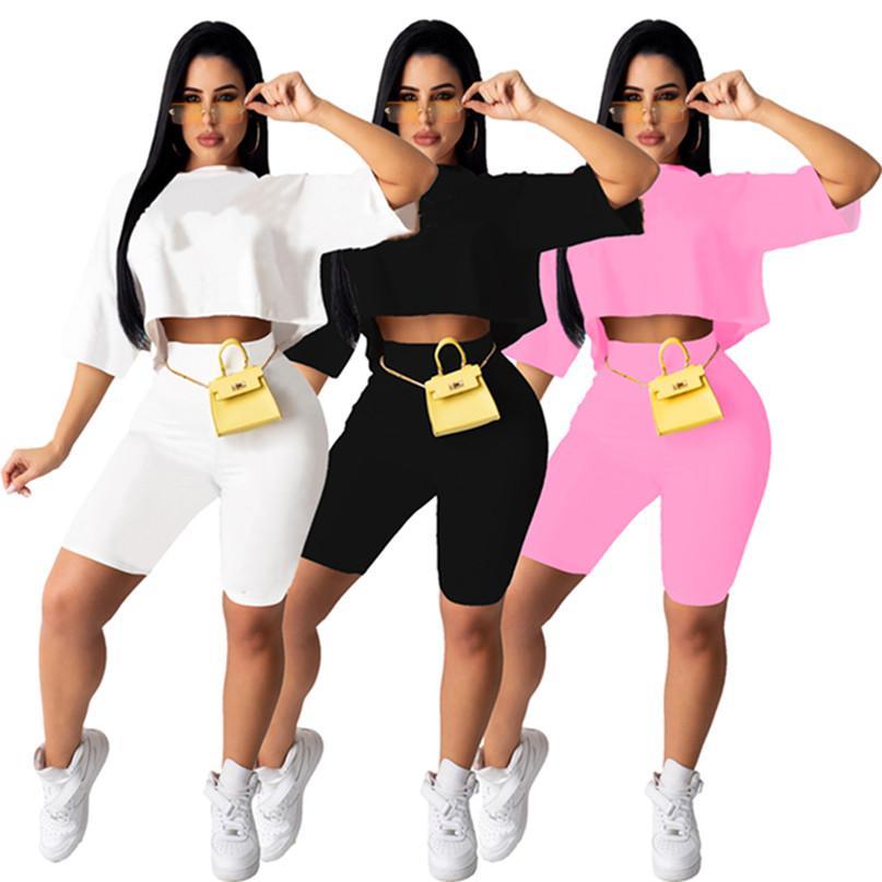 Ropa de verano mujeres jogger traje conjunto de dos piezas juego negro chándal gimnasio camiseta pantalones cortos pantalones cortos ropa deportiva jersey leggings sportswear trajes 4560