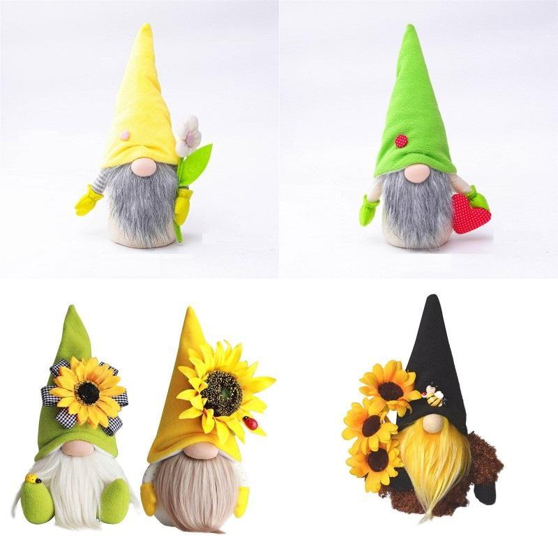 Muttertag Gnomes Party Geschenk-Frühling Blumen Zwerg Home Decoration Handgemachte Gesichtslose Plüsch Puppe Bienenfestival Desktop Ornament