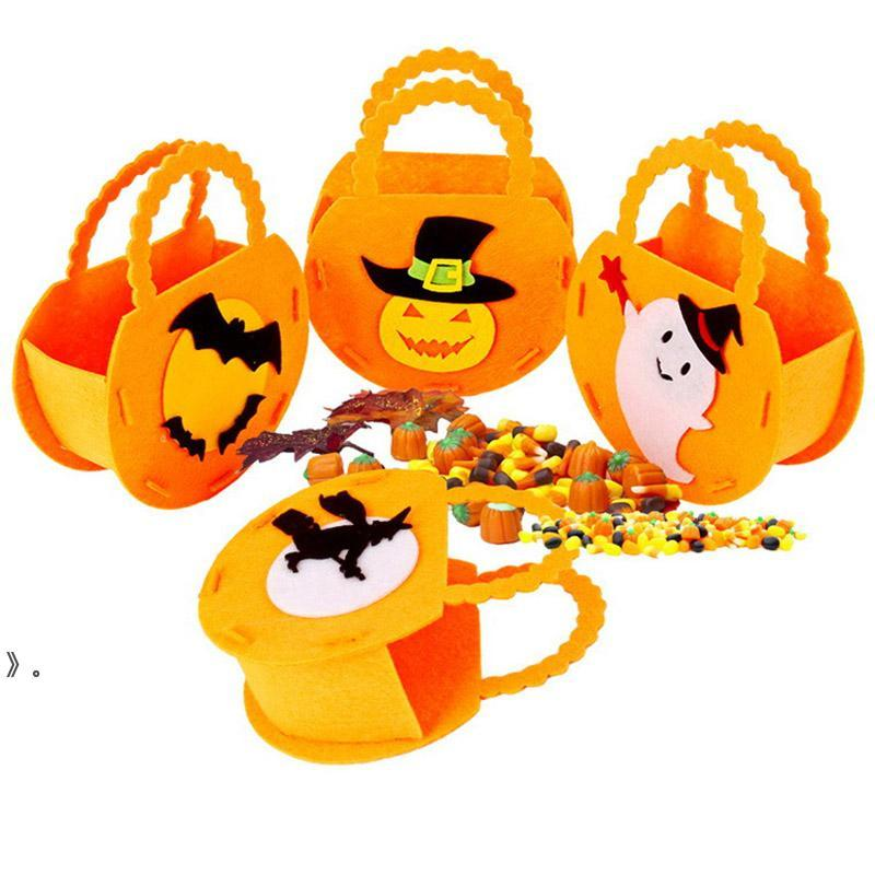 Halloween Decorations Non-woven Tote Bag Party Supplies Ghost Festival Children Gift Bags OWA8722