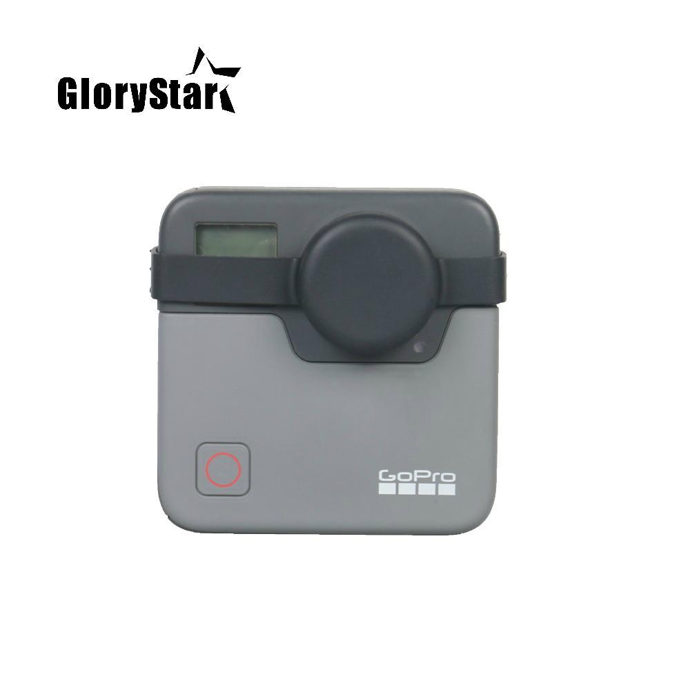 GoPro 퓨전 360도 Go Pro Hero 4K 액션 스포츠 카메라 액세서리 실리콘 보호 케이스에 대한 퓨전 렌즈 캡 커버 케이스