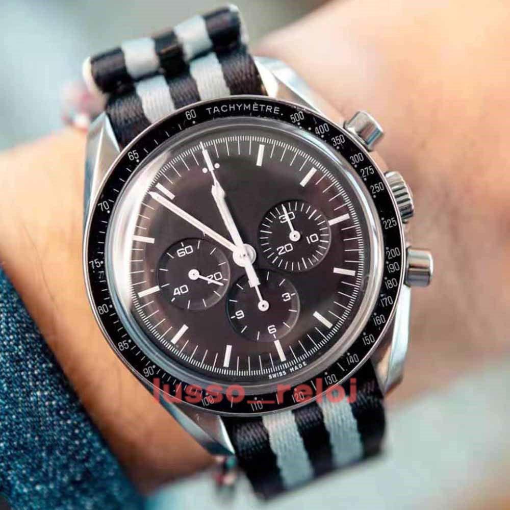 HollWatchesonola хронограф трансграничный классический уникальный дизайн спортивные мужские кожаные часы ремень водонепроницаемый японские кварцевые часы наручные часы