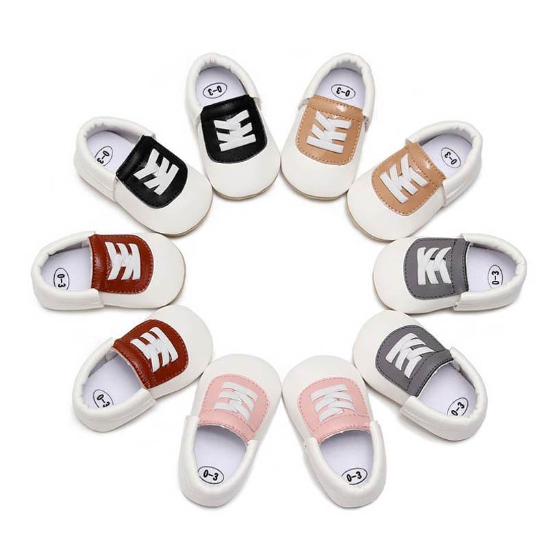 حذاء طفل أحذية طفل 0-1T الرضع أحذية رياضية بو الجلود عارضة الوليد الأحذية الأخفاف لينة أول المشي الأحذية B4101