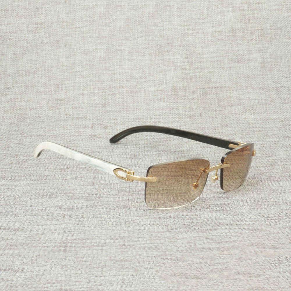 Finger Buffalo Black Horn zufällige Sonnenbrille Männer Natürliches Holz Square Glas Gebäude Frauen Schattierungen Gläser