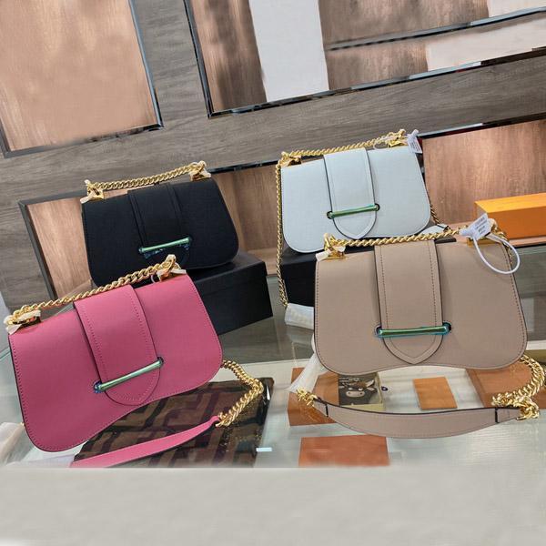 2021 designer de marca de ombro bolsa de couro feminino moda luxo sacos de corrente cruzada com caixa tamanho 24cm * 15cm