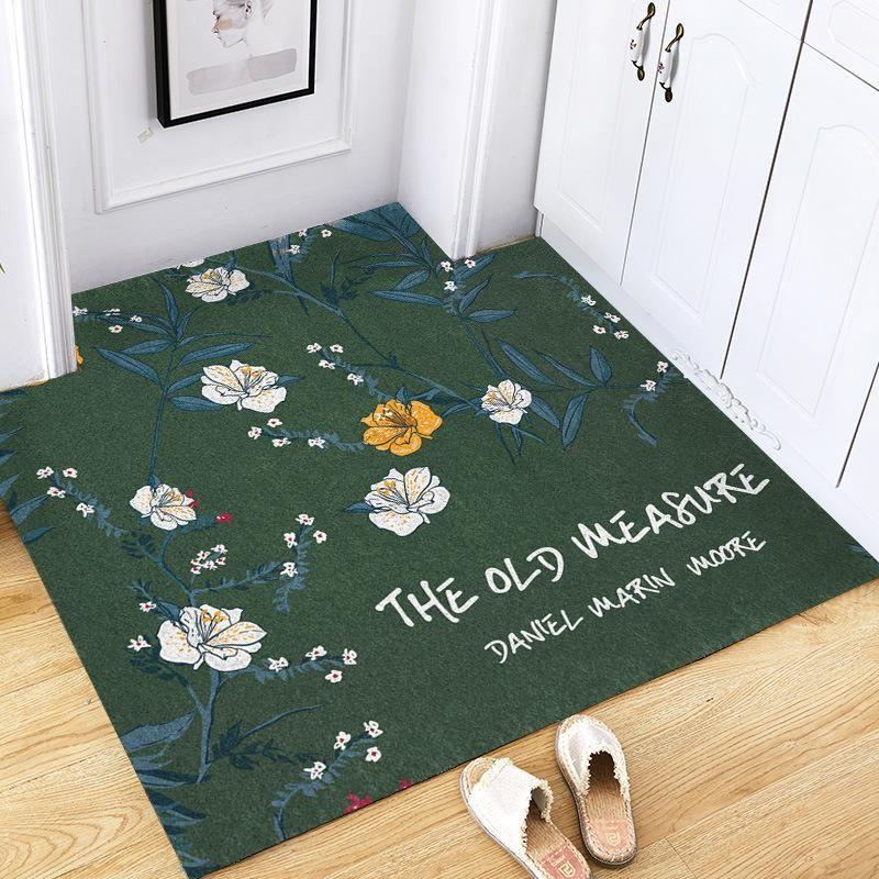 Цветы узорные дверные коврик ковров бытовой открытый входной пол дверные коврики водонепроницаемый кабеля