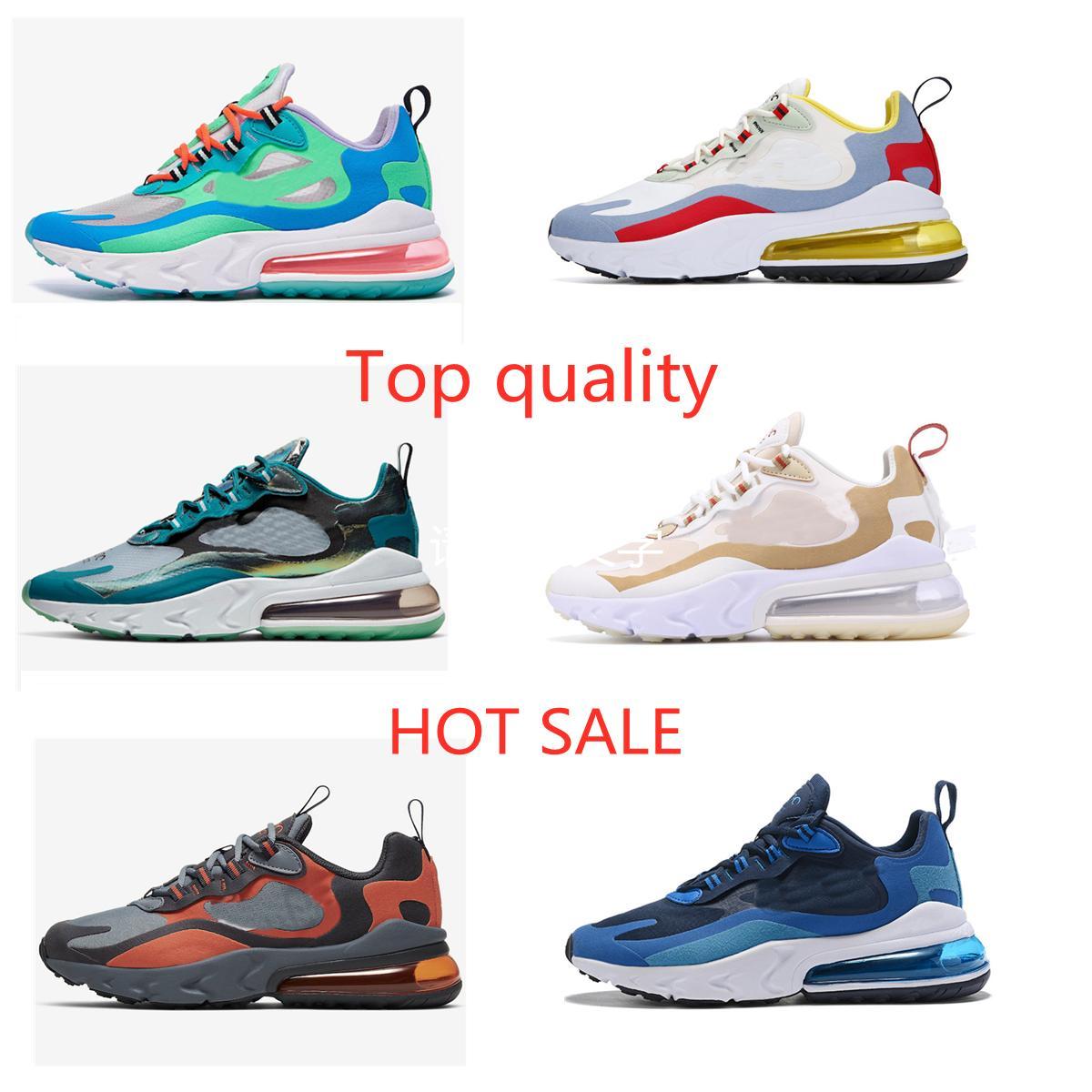 Nike Air Max 270 React 2021 Neue Ankunft Reaktion Männer Lauf im Freien Schuhe Top Qualität Triple Black Fashion Herren Trainer Atmungsaktive Sport Sneakers Größe 36-45