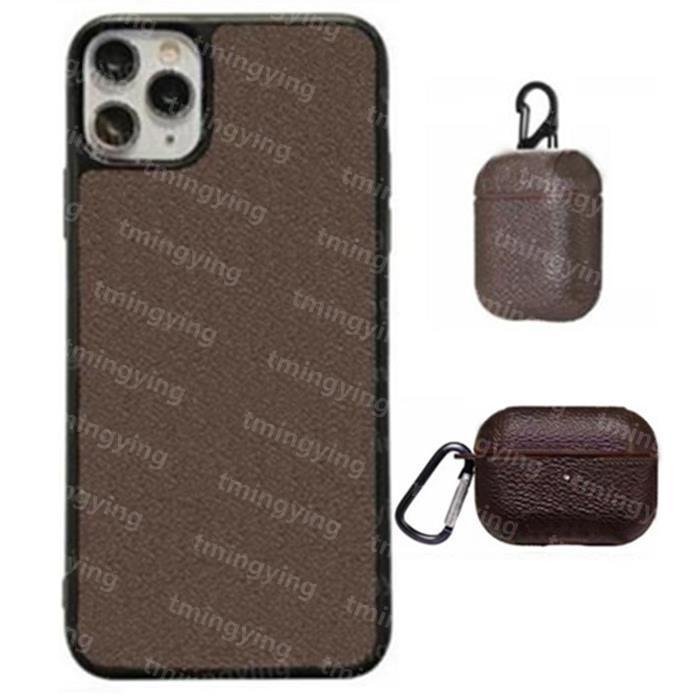 Top Pelle Designer Designer Custodie per iPhone 13 Pro Max 12 Mini 11 XS XR x 8 7 Plus Fashion Print Back Cover Shell mobile di lusso con cassa di airPod