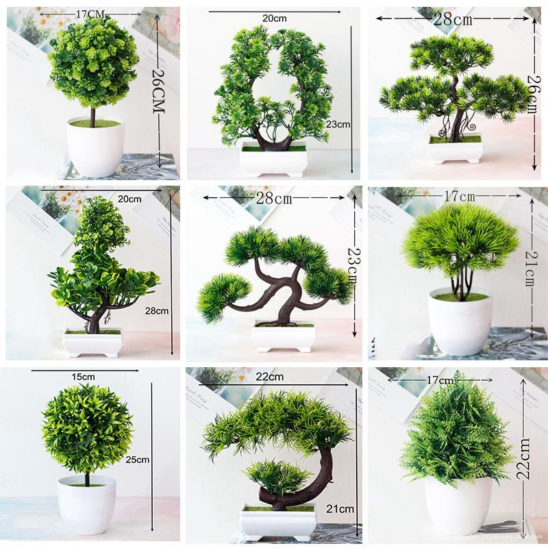 Neue Künstliche Pflanzen Grüne Bonsai Kiefer Gefälschte Pflanze mit Topf Tisch Topf Ornaments Wohnkultur Hotel Garten / Festival Dekor