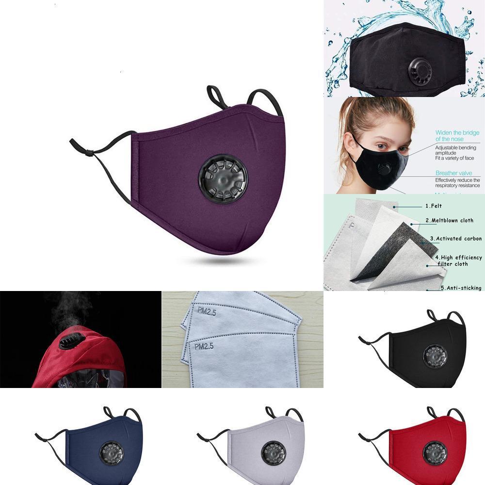 Aliento de algodón reutilizable cara unisex con máscaras válvula PM2.5 Mascaría boca anti-polvo lavable MA62N3 2MPB