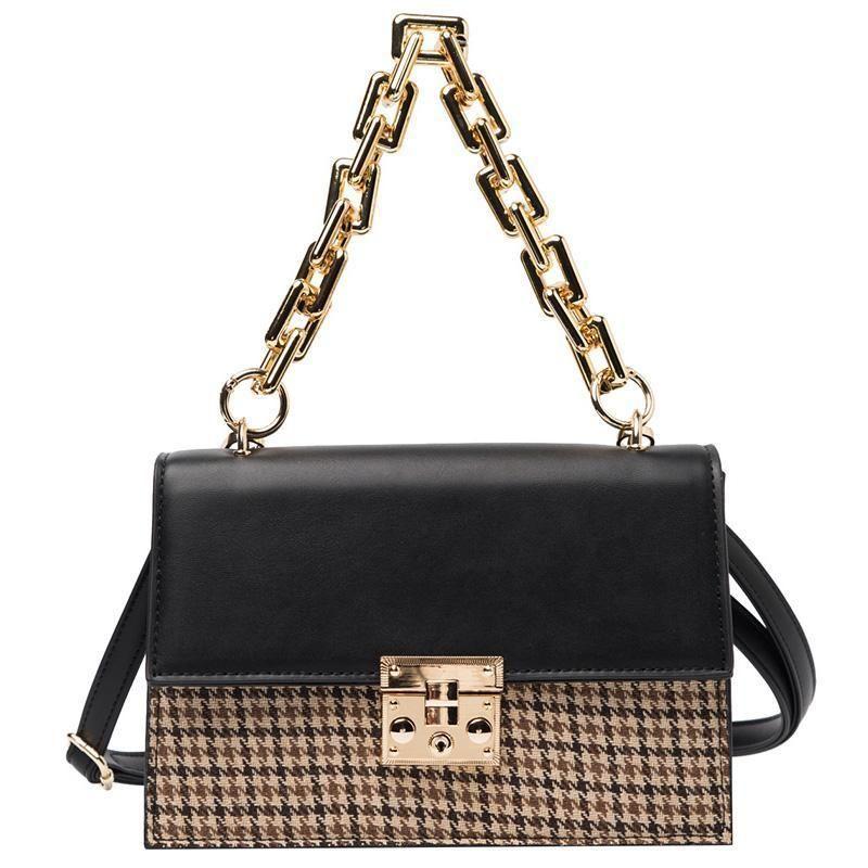 Top Quality Fashion New Luxurys Designers PU Leather Women Designer Handbag Shoulder Messenger Bag Thick Chain Square Tote Bag Banquet Bags