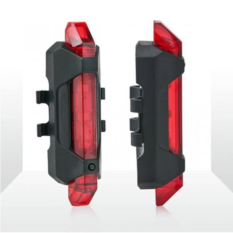 2 шт. USB Зарядные огни Мини-хвостовой светло-велосипедной сигнальной лампы красный
