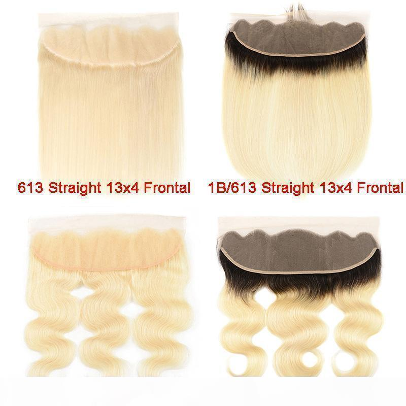 613 блондинки 13 * 4 кружева фронтальная 1b 613 ombre блондинки бразильский человеческий волос ухо на ушивок закрытие волос наращивание волос наращивание наращивания волос только 10-18 дюймов