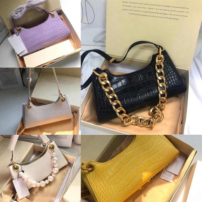 Hxvgy dames luxe classique arrière sac de rétro cuir brun dames sacs à main sacs à main sacs à main Portefeuille en cuir Messenger mini chaîne de créateurs de mode