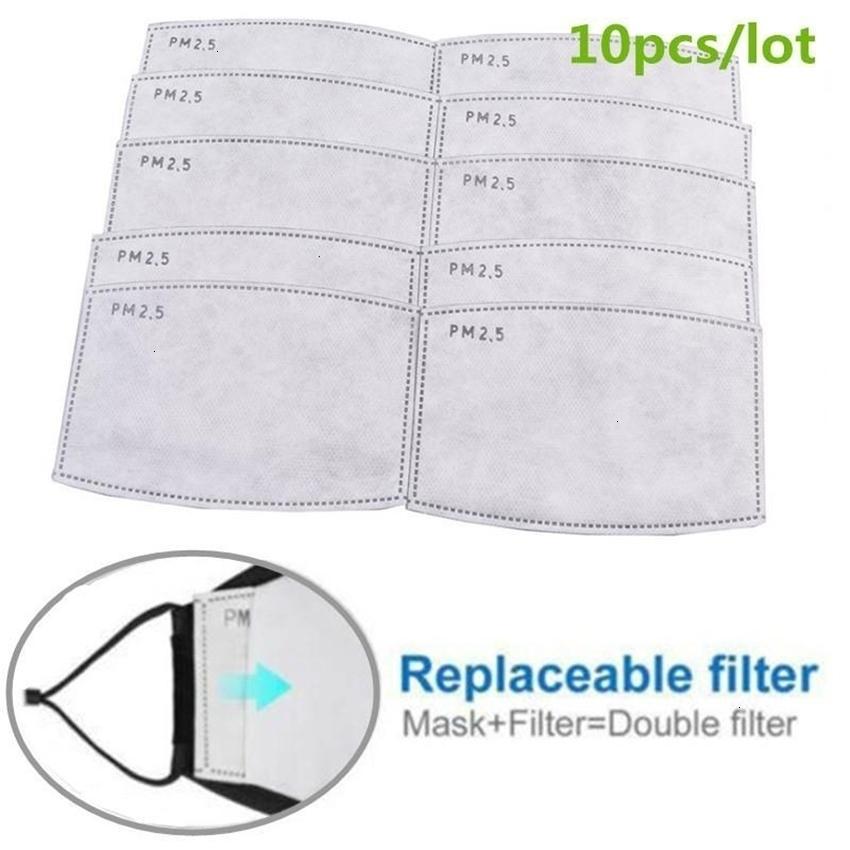 Пылевые сменные 10 шт. / Установленные маска для дымки PM2.5 фильтр-ломтик анти 5 слоев нетканый рот активированный углеродный фильтр