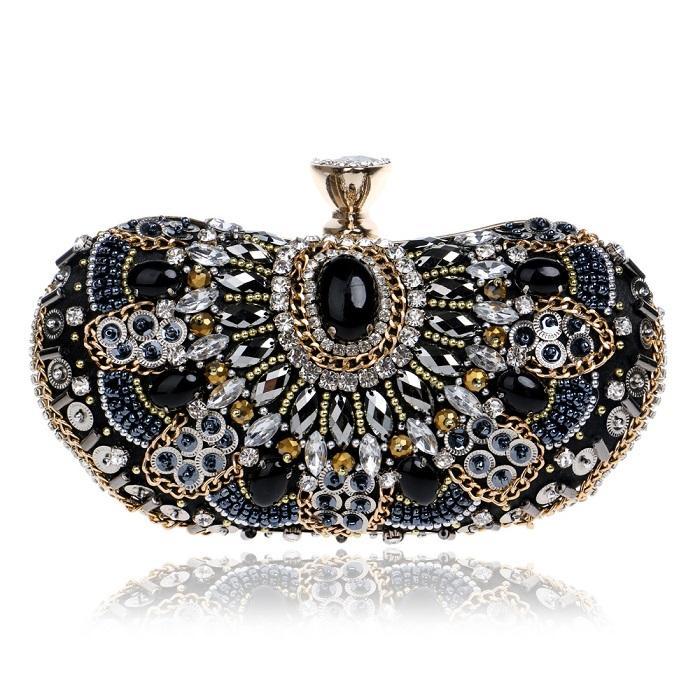 Женщины Luxurys дизайнерские сумки 2021 сумка цветок алмаз кристалл бисером сцепления горный хрусталь вечерняя сумка блестящий кошелек для свадьбы