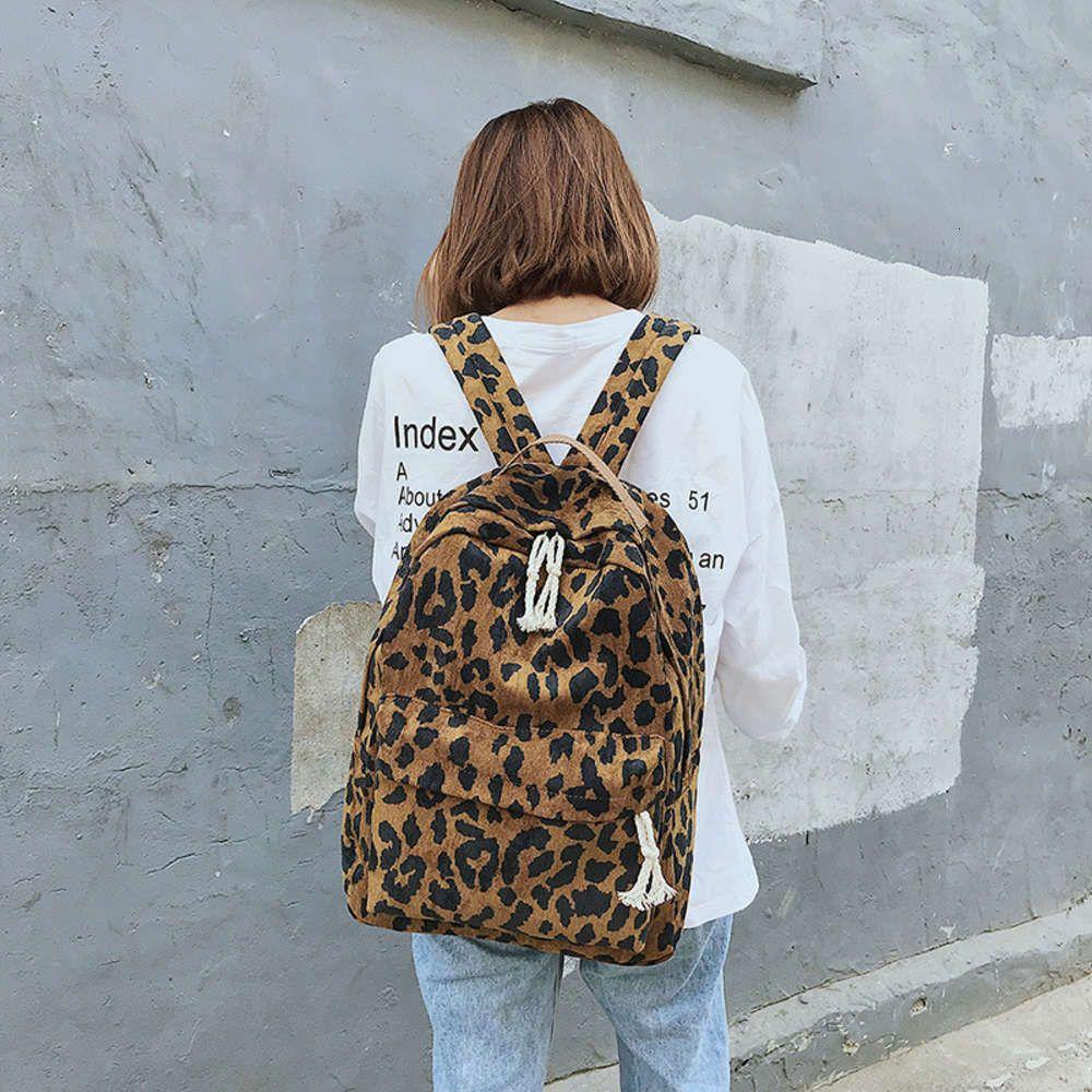 Сумка женская 2019 новая мода корейский леопардовый принт рюкзак, несущий большую емкость студент школьника