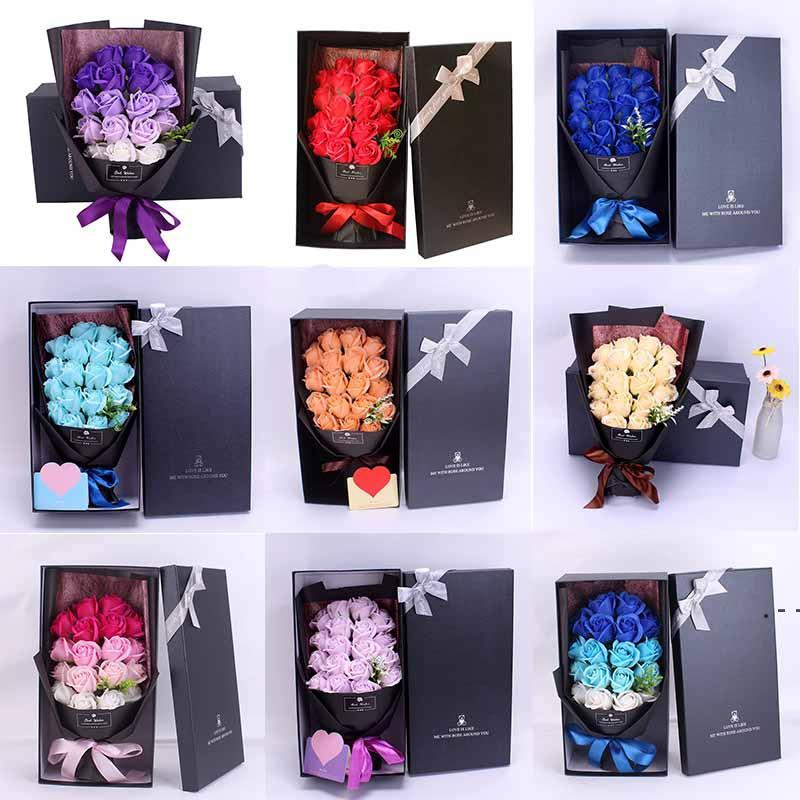 New Rose Sapone Flower Giornata della mamma Regalo Single Sapone Flower Cinese Giorno di San Valentino regalo per la fidanzata Flower Bway Bwa4187