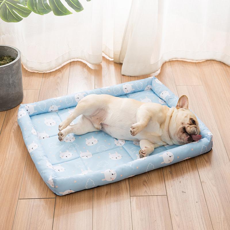 أرقام الكلاب الكلاب الصيف السرير بارد حصيرة القط بطانية السفر تنفس قابل للغسل الحرير البارد أريكة أريكة محمولة جرو الموردين