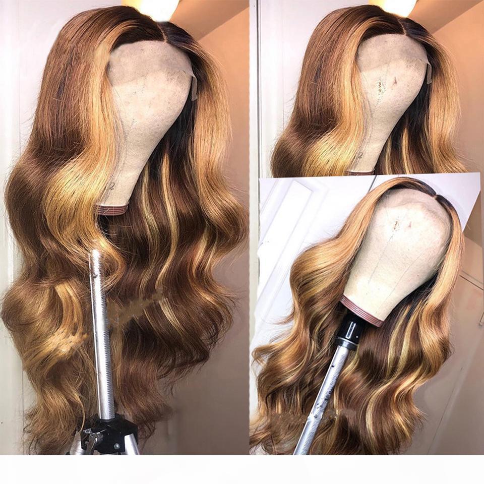 Ombre blonde # 1b 99 et cheveux noirs naturels cheveux humains pleine dentelle perruque péruvain cheveux vierges 150% densité perruque de dentelle avant avec cheveux bébé