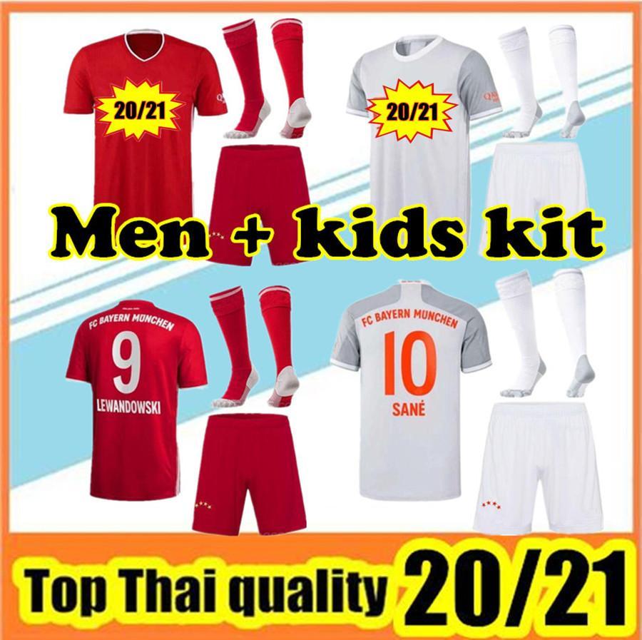 20 21 Lewandowski Soccer Jersey 2020 2021 Sane Muller Jersey Hummels Camisa de fútbol Hombres Establece uniformes + calcetines
