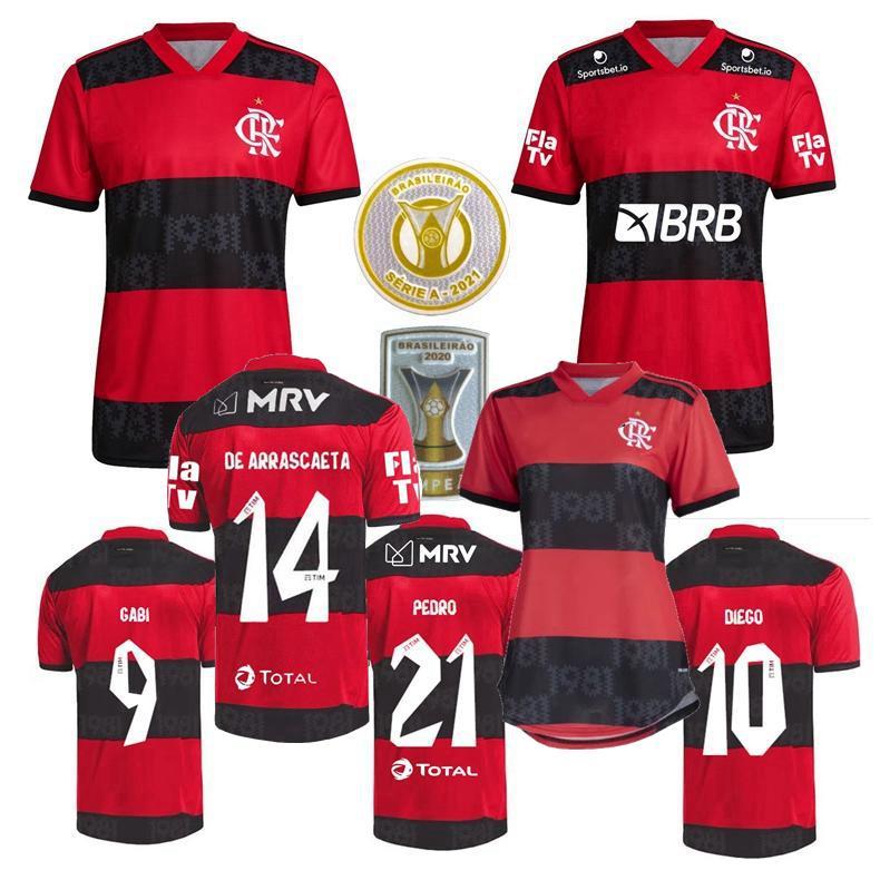 NEW 2021-22 Flamengo Home Soccer Jersey Short Sleeve Man Tshirt Size:S-XXL