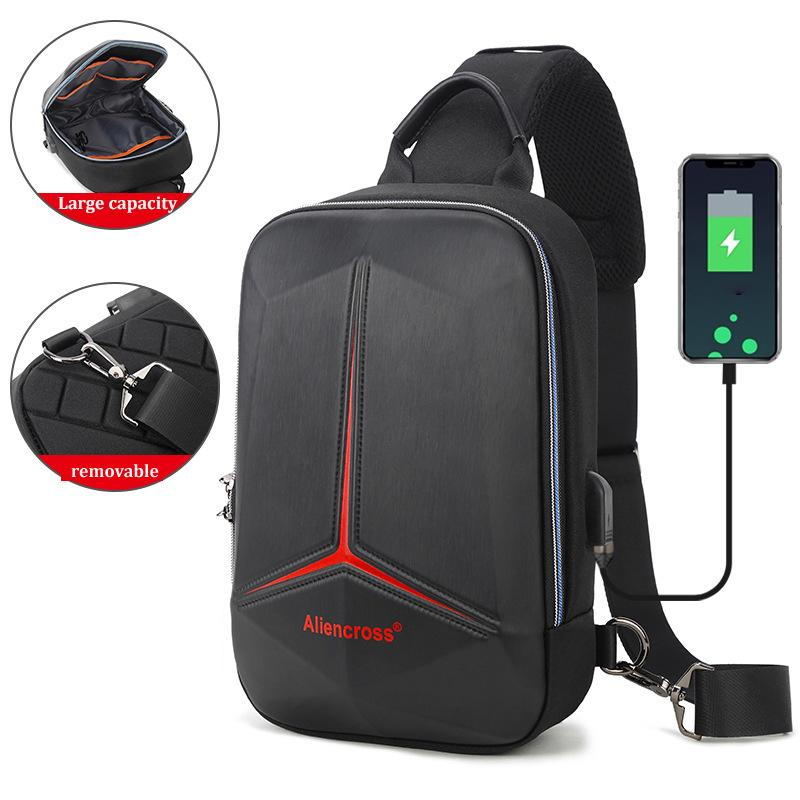 2021 Anti-theft lock Chest Bag for USB charging travel Shoulder bag High-quality Messenger Bags Waterproof Men's Crossbody Bag C0227