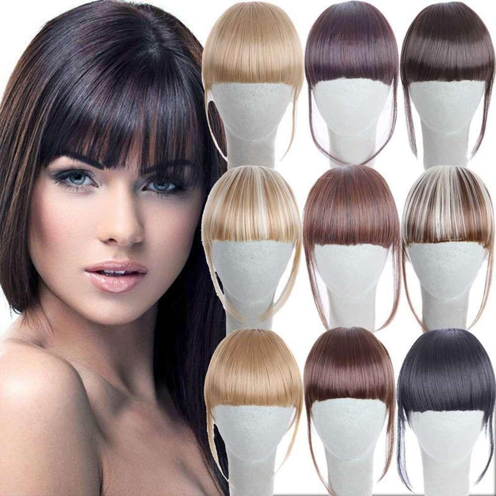 Perücke, chemische Faserperücke, Damen Air Bangs, Haarteil mit Koteletten, chemischen Faserballen