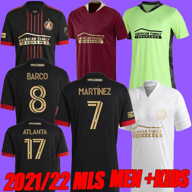 Erkekler + Çocuklar 2021 2022 MLS Atlanta United FC Soccer Jersey Eve 2122 G.Martinez Martinez Nagbe Barco Villalba Futbol Gömlekleri