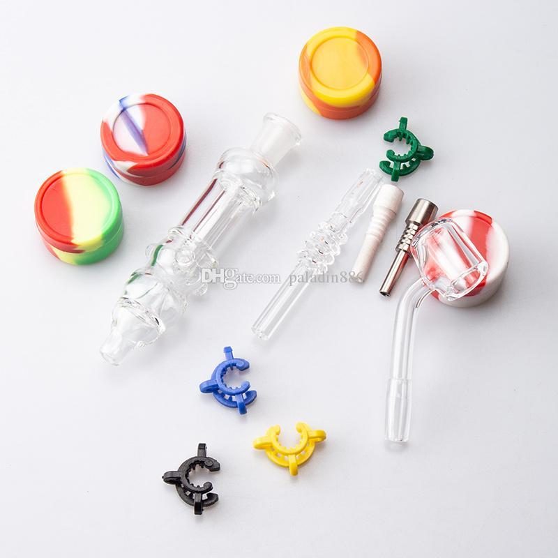 Paladin886 CSYC NC008 Hukahn-Glas-Wasserleitung Bubbler 10mm Titan-keramischer Quarz-Nagel verhindern Reflux-Öl-Rig-Bong