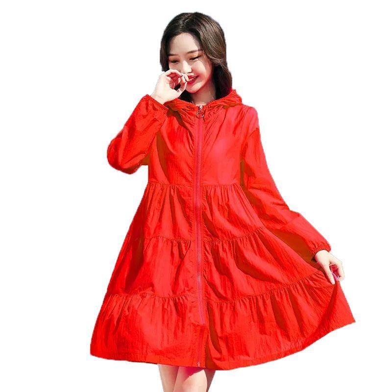 Kadın Ceketler Kadınlar Ince Ceket Rahat Yaz Güneş Koruma Giysileri Kadın Kapüşonlu Hırka Uzun Kollu Bluz Kadın Zarif R939 Tops