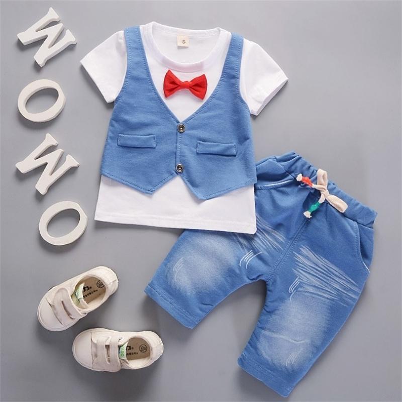 Sommer Kleinkind Junge Kinder Kinder Kleidung Set Babykleidung T-shirt + Hosen Anzug Trainingsanzüge Für Jungen 1 2 3 4 Jahre 210226