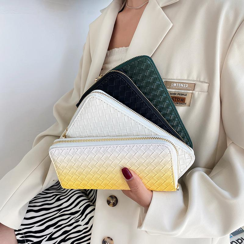 Hbp main tenant portefeuille mode marée marée marécagination sac sac nouvelle dame longue portefeuille tempérament gradient