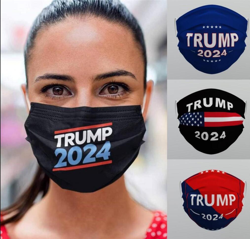 Trump 2024 Kullanımlık Yıkanabilir Yüz Maskesi Dokunmayan Kumaş Toz Geçirmez Haze-Proof Koruyucu Nefes Ağız Maskeleri Toptan