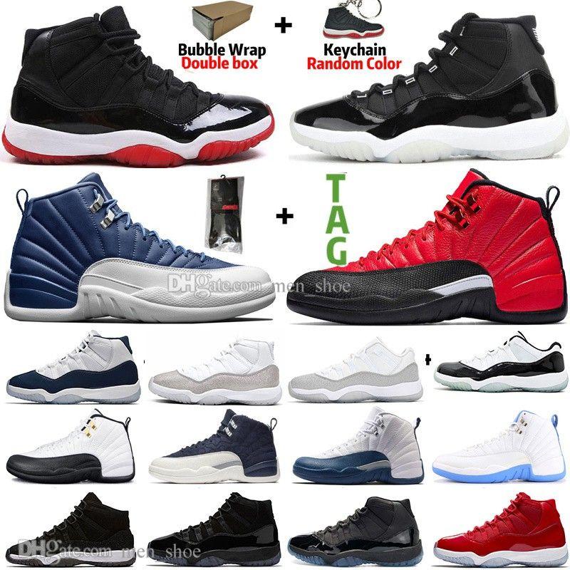 11 11s 25º aniversário Criado Concord 45 Space Jam Homens Sapatos de Basquete 12 12s Indigo Jogo Royal Reverse Gripe Game Mens Mulheres Sports Sneakers