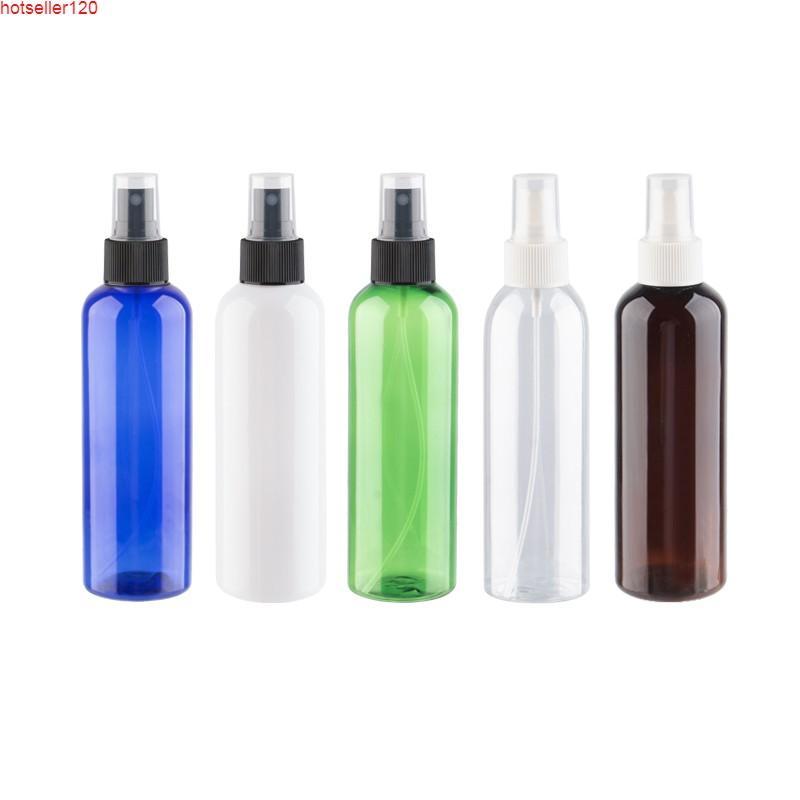 200 ml 12 adet Beyaz Şeffaf Mavi Yeşil Kahverengi Plastik Sprey Şişeleri 200cc Boş Pet Parfüm Flakon Güzel Mist Püskürtücü Pumphigh Quatiy