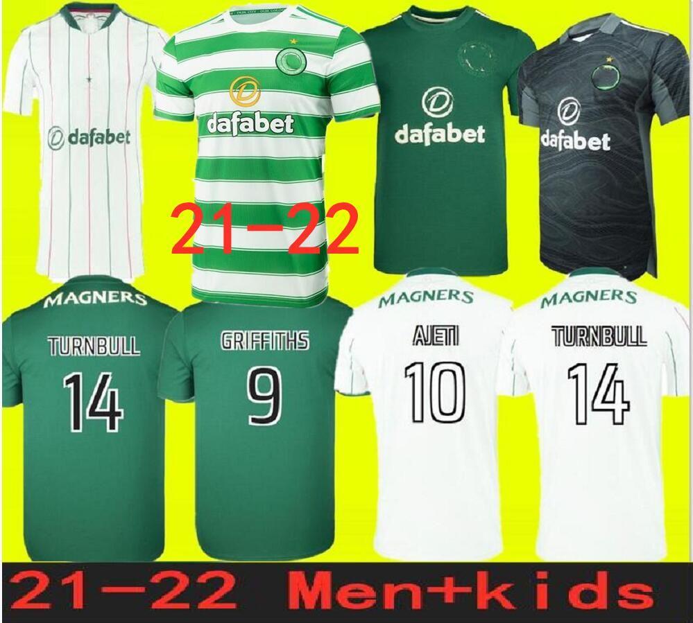 تايلاند الجودة حجم S-4XL 21 22 سلتيك لكرة القدم الفانيلة 2021 أسود إدوارد جونستون Griffiths ماكجريغور مايلوتس دي فوت فورست لكرة القدم قمصان