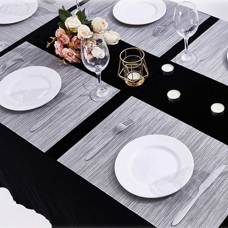 Placemats graue Place-Matten-Tischsets Wiptable, einfach zu sauberen Tabellensatz von 6 für die Esszimmer-Restaurant-Restauranttabelle