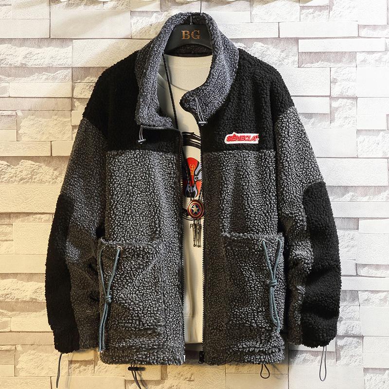 Повседневная Англия стиль весна осень грузовой флис куртка мужская бренд одежда плюс негабаритная M-5XL кг-149