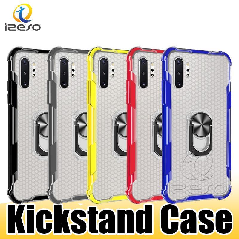 Hibrid Zırh Kickdüsten Cep Telefonu Case Samsung Galaxy S21 için Not 20 Ultra A72 5G A21 A12 Darbeye Cep Telefonu Kapak Kılıf Izeso