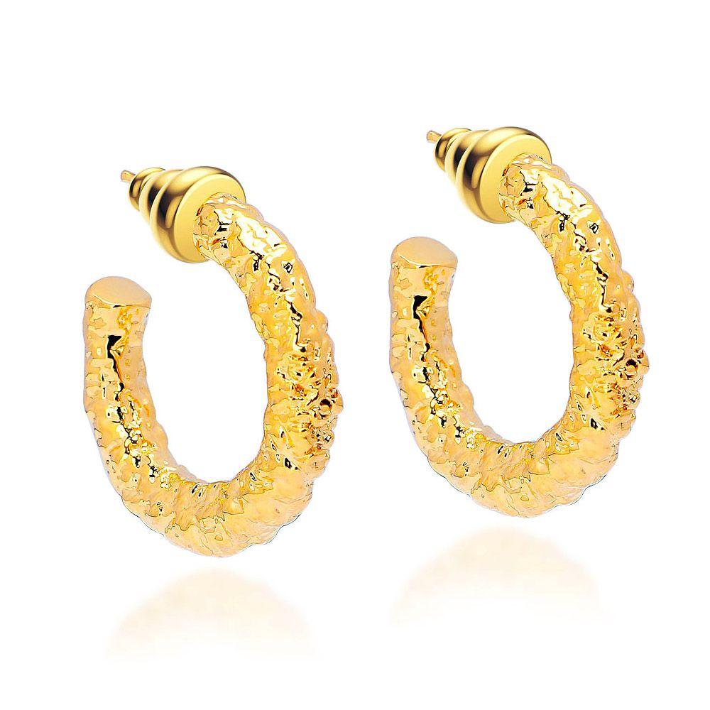 VAROLE Hoop Earrings For Women Gold Color Circle Tube Earings Fashion Jewelry Trend Kolczyki Party
