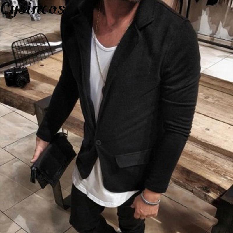 Men's Suits & Blazers CYSINCOS 2021 Arrival Luxury Men Casual Vintage Business Blazer Urbane Smart Coat Suit Jacket Formal Clothes M-3XL