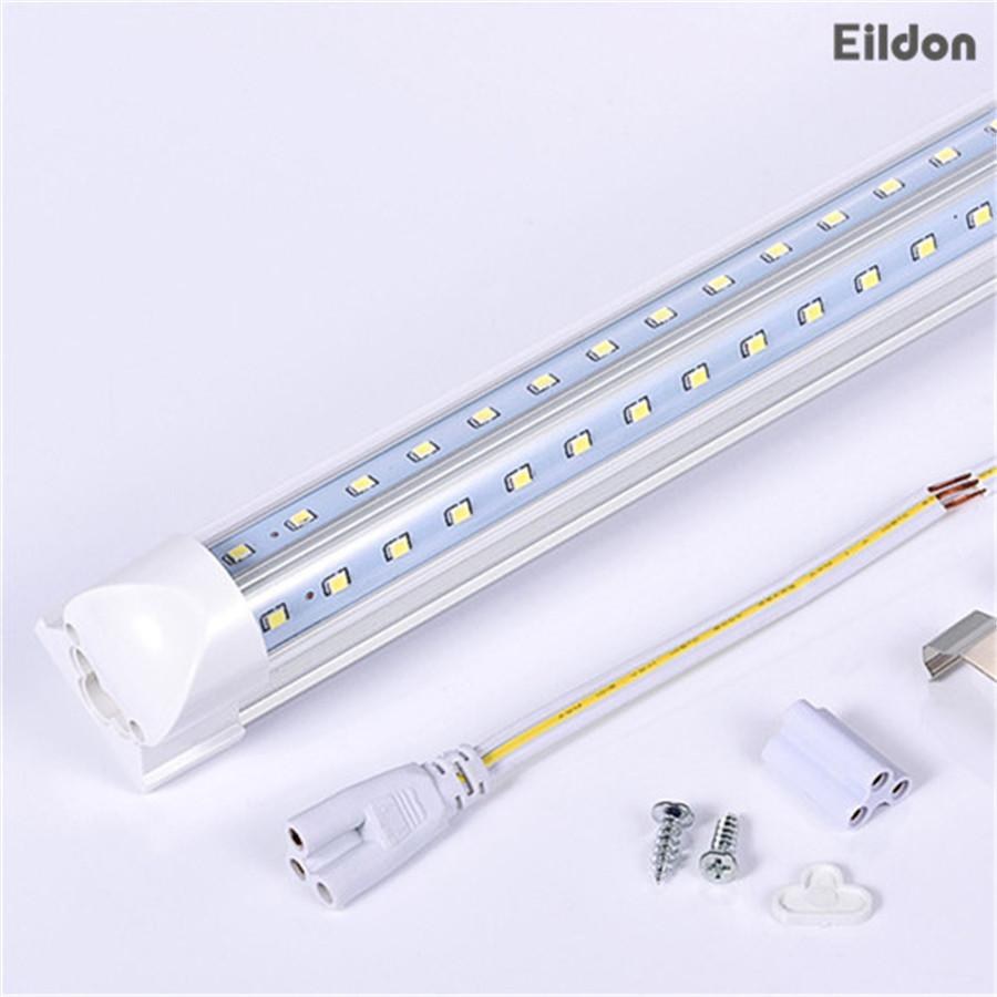 T8 LED Tubes Lights 8ft 66W 7000LM V-Shaped Integrated AC85-265V PF0.95 384LEDs 2835SMD 8 foot Fluorescent Bulbs Direct from Shenzhen China