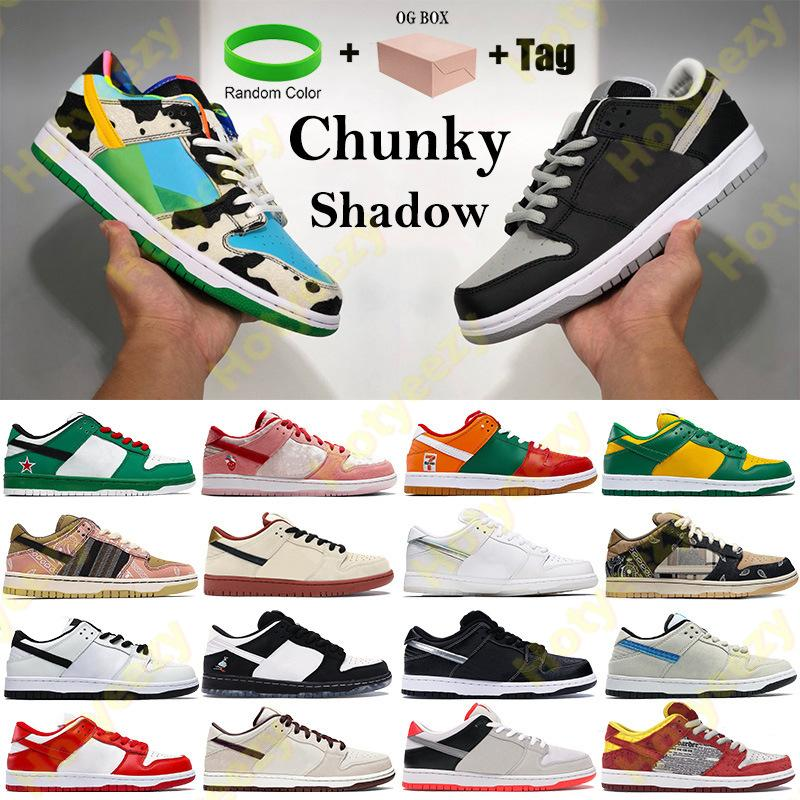 Dunk Chunky Dunky Basketball shoes Shadow Coast Men Women outdoor Sneakers panda pigeon pro muslin black Trainers with Box tag