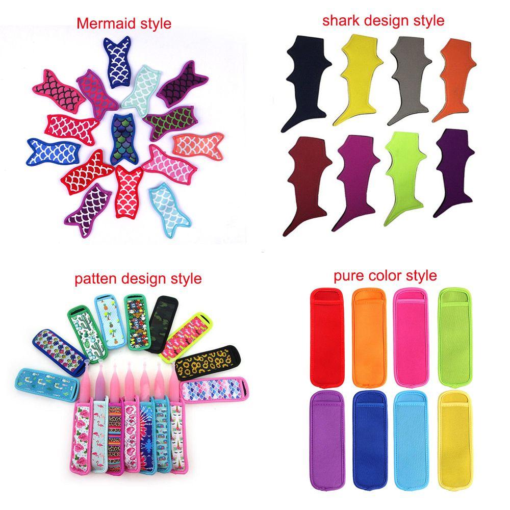 Antifreezing Popsicle Bags Freezer Popsicle Holders Reusable Neoprene Insulation Ice Pop Sleeves Bag for Kids Summer Kitchen Tools