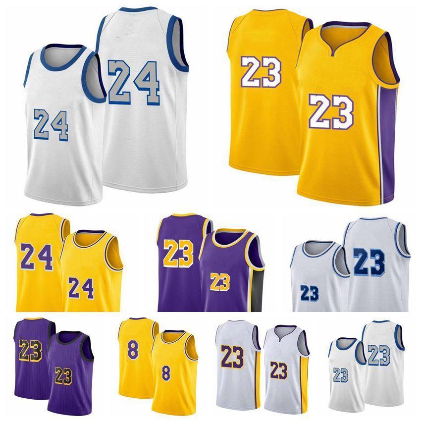 Black Mamba Los Mens 23 Jogador Jerseys Anthony 3 Davis Kyle 0 Kuzm Basquetebol Jerseys Angeles 2020/21 Swingman City Nova Edição Branco Amarelo
