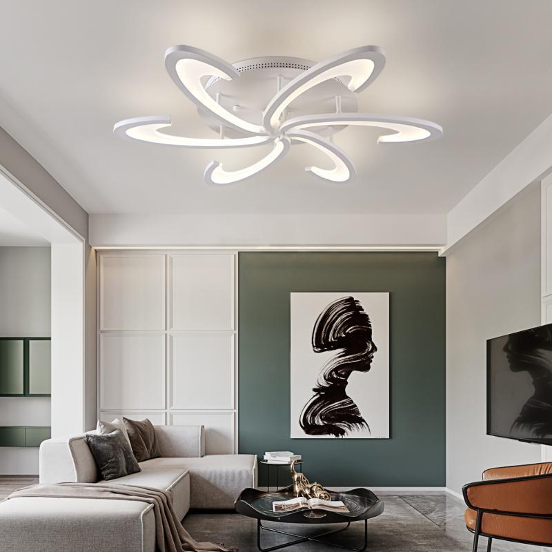 Современные акриловые светодиодные люстры потолочная лампа лампы белого цвета для гостиной спальня люстры светлые светильники светильники крытое освещение